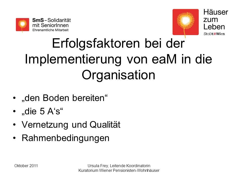 Erfolgsfaktoren bei der Implementierung von eaM in die Organisation