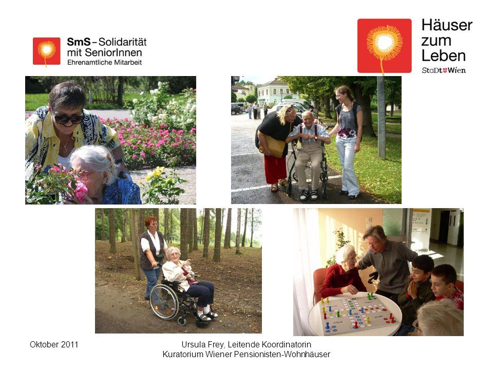 Oktober 2011 Ursula Frey, Leitende Koordinatorin Kuratorium Wiener Pensionisten-Wohnhäuser.
