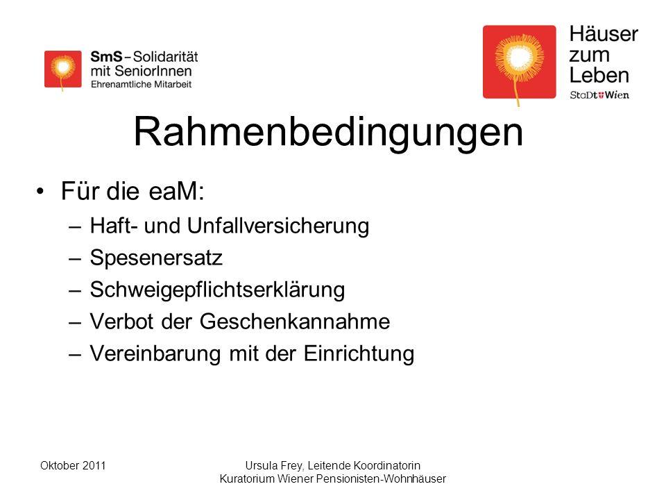 Rahmenbedingungen Für die eaM: Haft- und Unfallversicherung