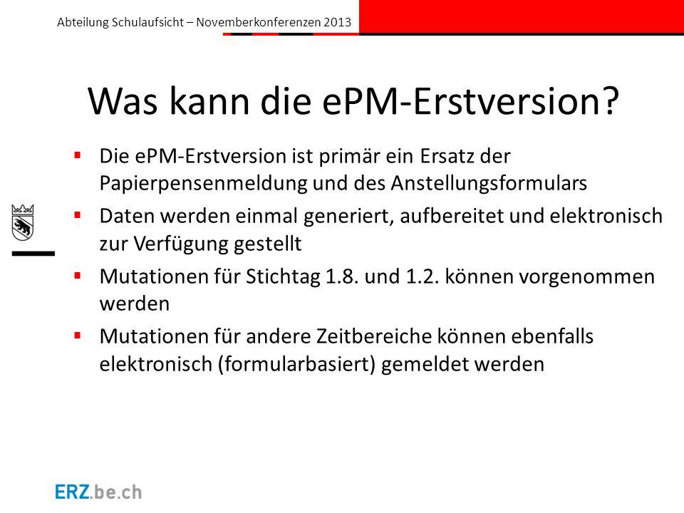 Was kann die ePM-Erstversion