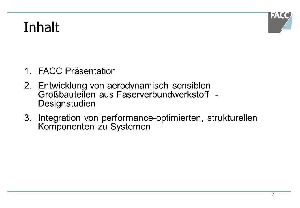 Inhalt FACC Präsentation