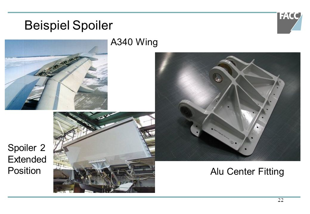 Beispiel Spoiler A340 Wing Spoiler 2 Extended Position