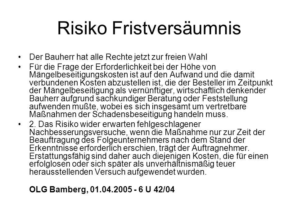 Risiko Fristversäumnis