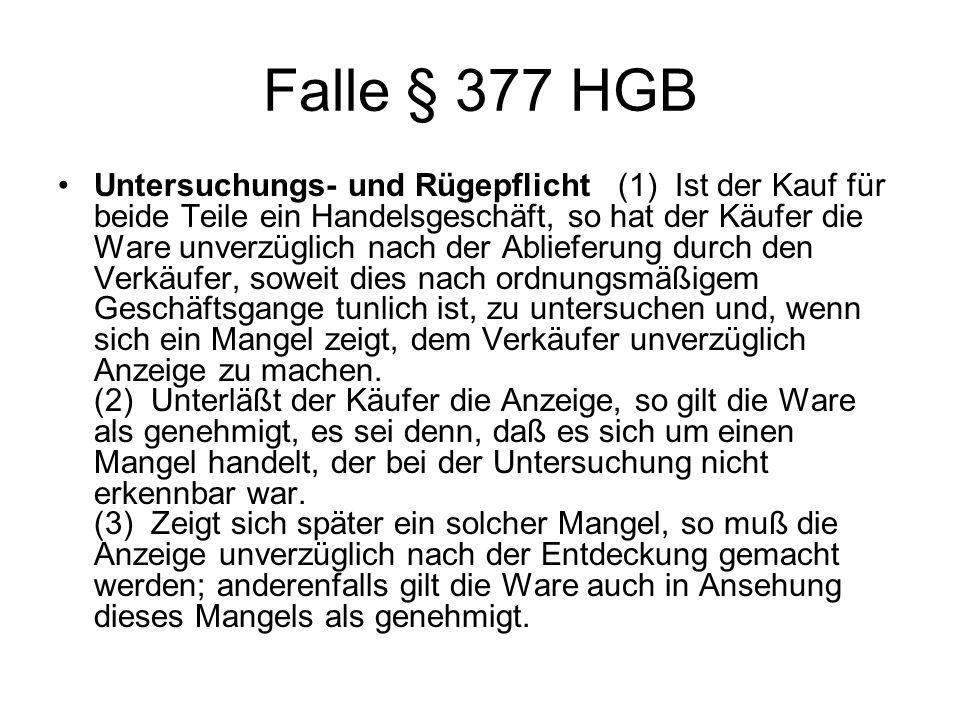 Falle § 377 HGB