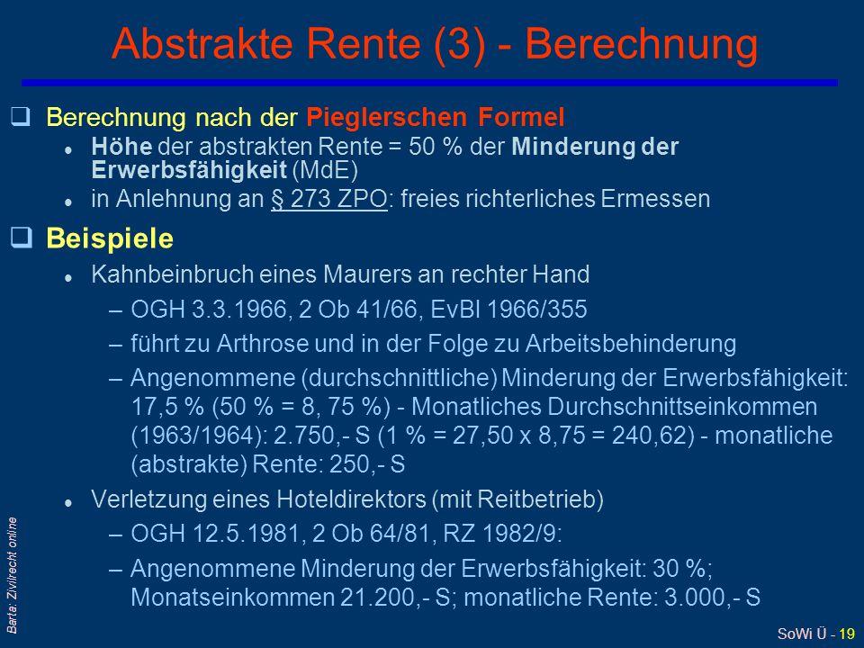 Abstrakte Rente (3) - Berechnung