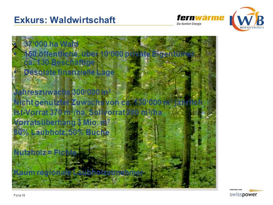 Exkurs: Waldwirtschaft