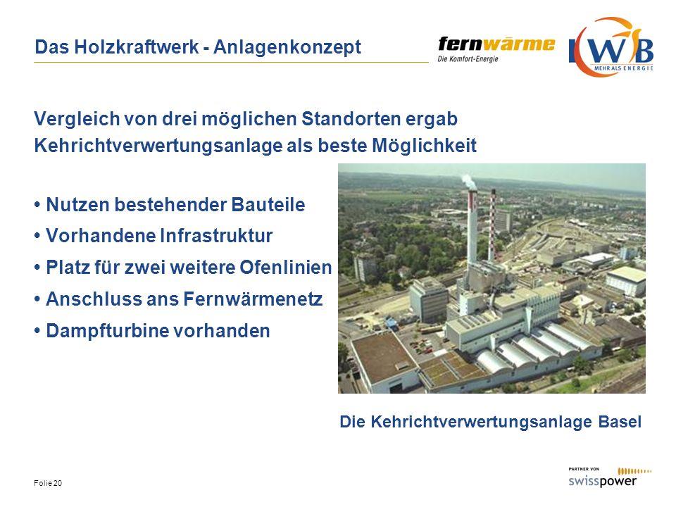 Das Holzkraftwerk - Anlagenkonzept