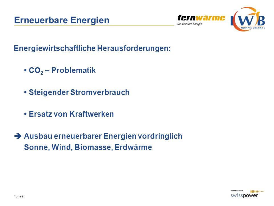Erneuerbare Energien Energiewirtschaftliche Herausforderungen: