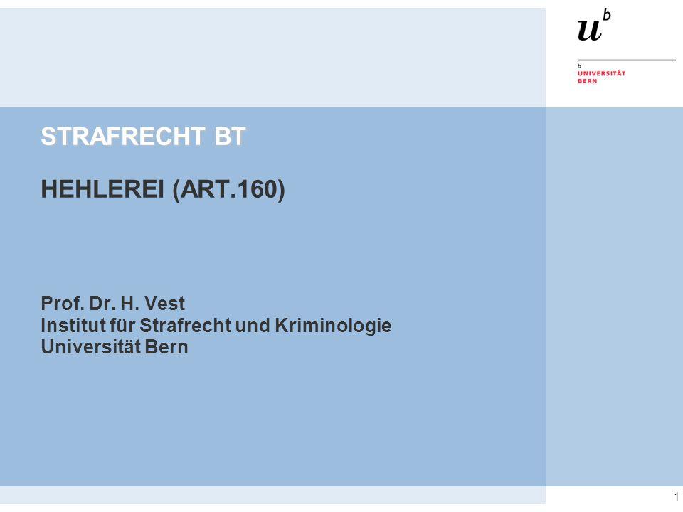 STRAFRECHT BT HEHLEREI (ART.160)