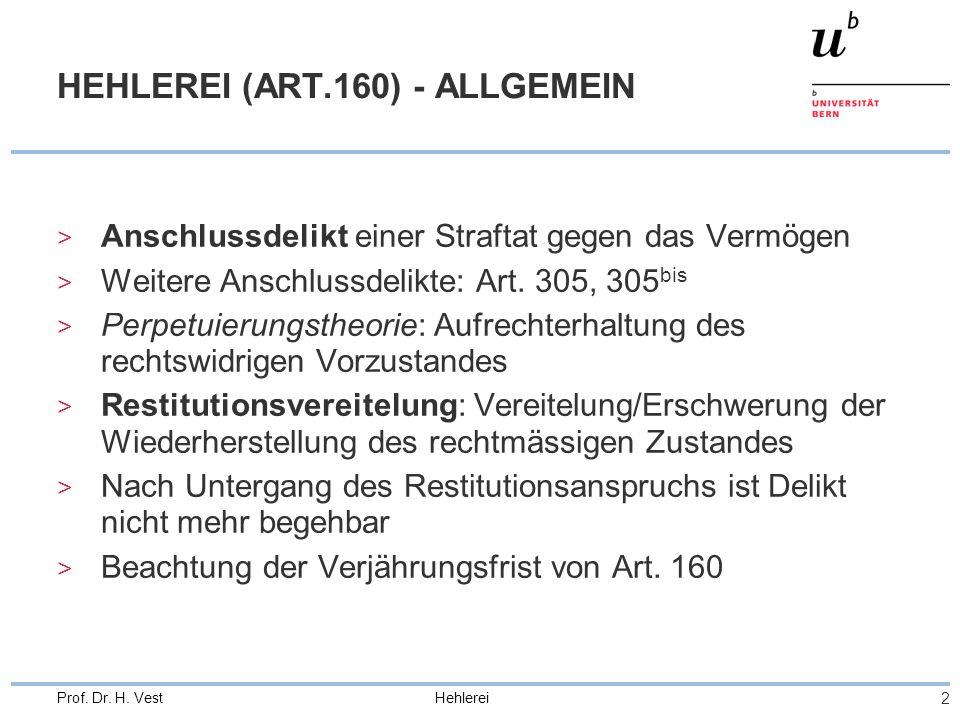 HEHLEREI (ART.160) - ALLGEMEIN