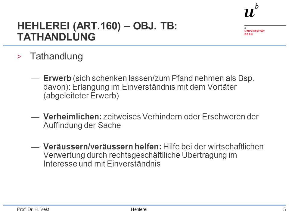HEHLEREI (ART.160) – OBJ. TB: TATHANDLUNG