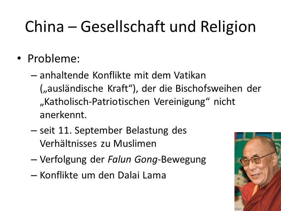 China – Gesellschaft und Religion