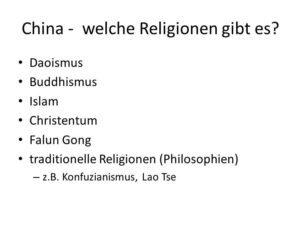 China - welche Religionen gibt es