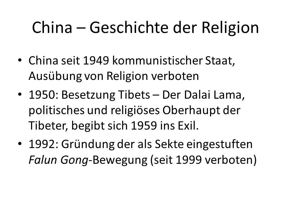 China – Geschichte der Religion