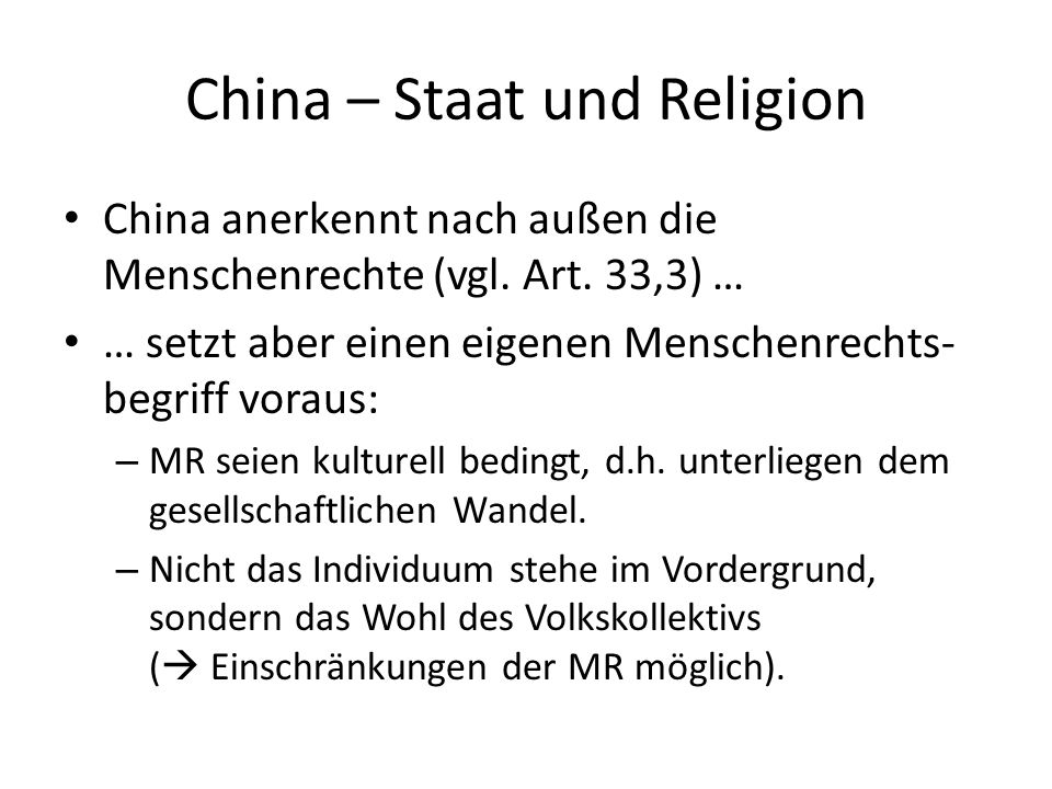 China – Staat und Religion
