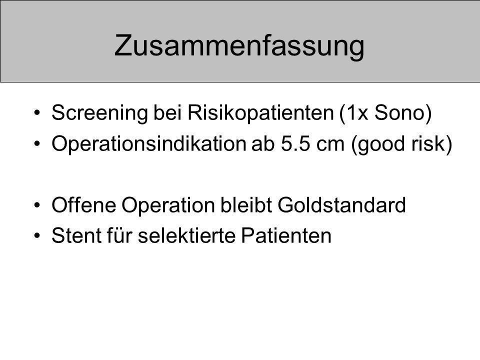 Zusammenfassung Screening bei Risikopatienten (1x Sono)