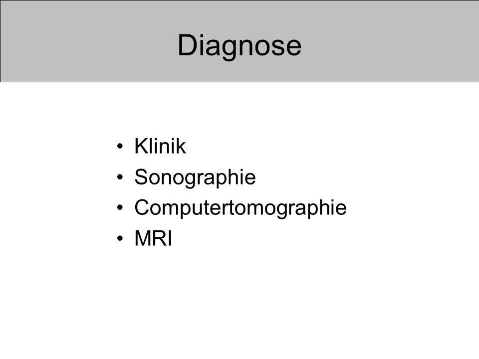 Diagnose Klinik Sonographie Computertomographie MRI