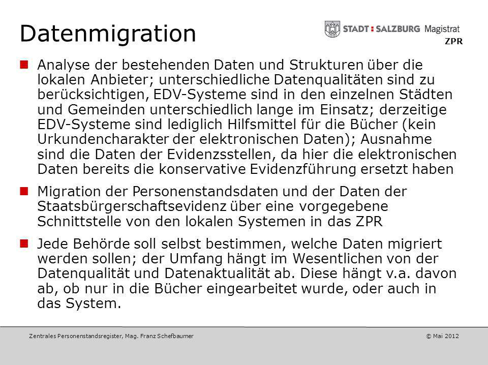 Datenmigration ZPR.