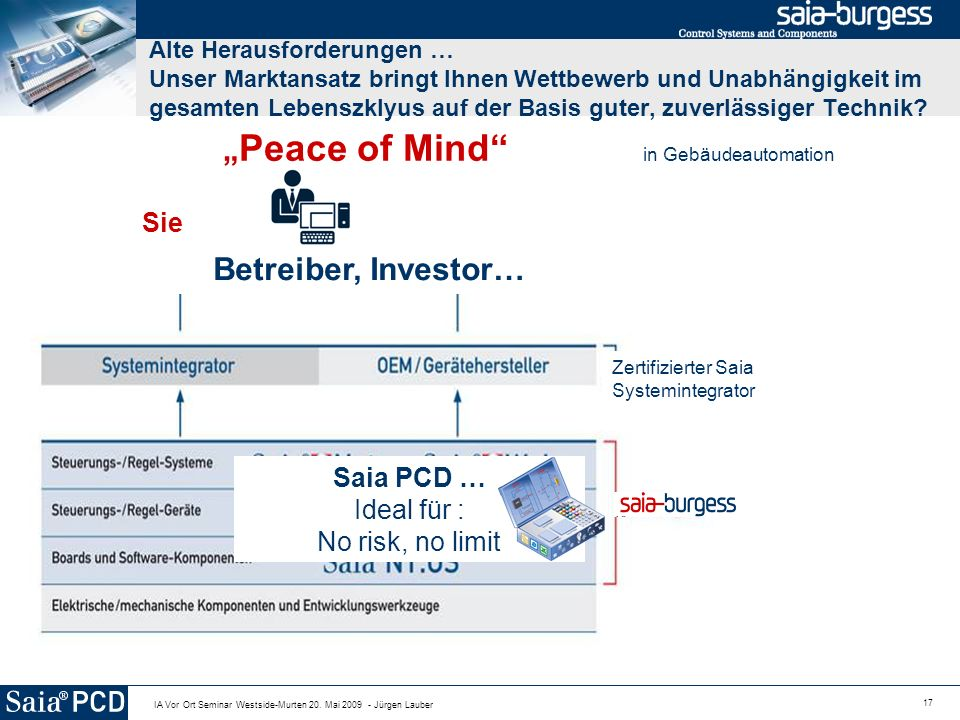 """Peace of Mind in Gebäudeautomation"