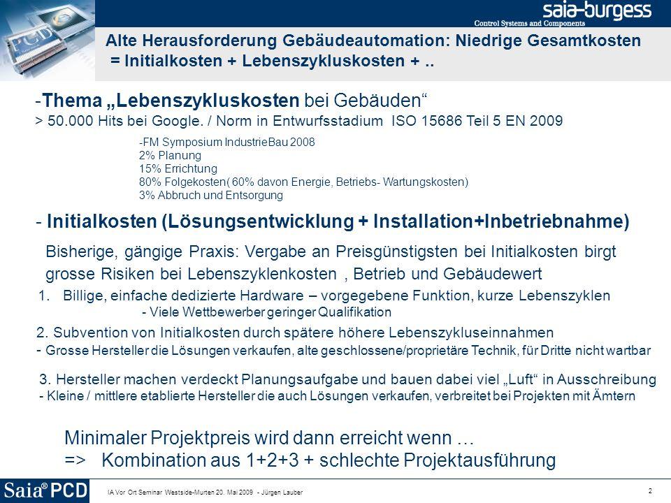"Thema ""Lebenszykluskosten bei Gebäuden"