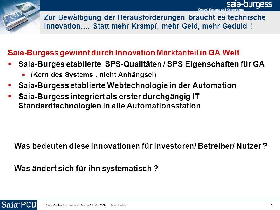 Saia-Burgess gewinnt durch Innovation Marktanteil in GA Welt