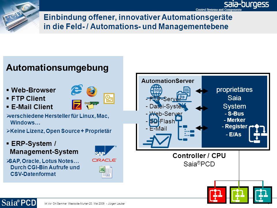 Einbindung offener, innovativer Automationsgeräte in die Feld- / Automations- und Managementebene