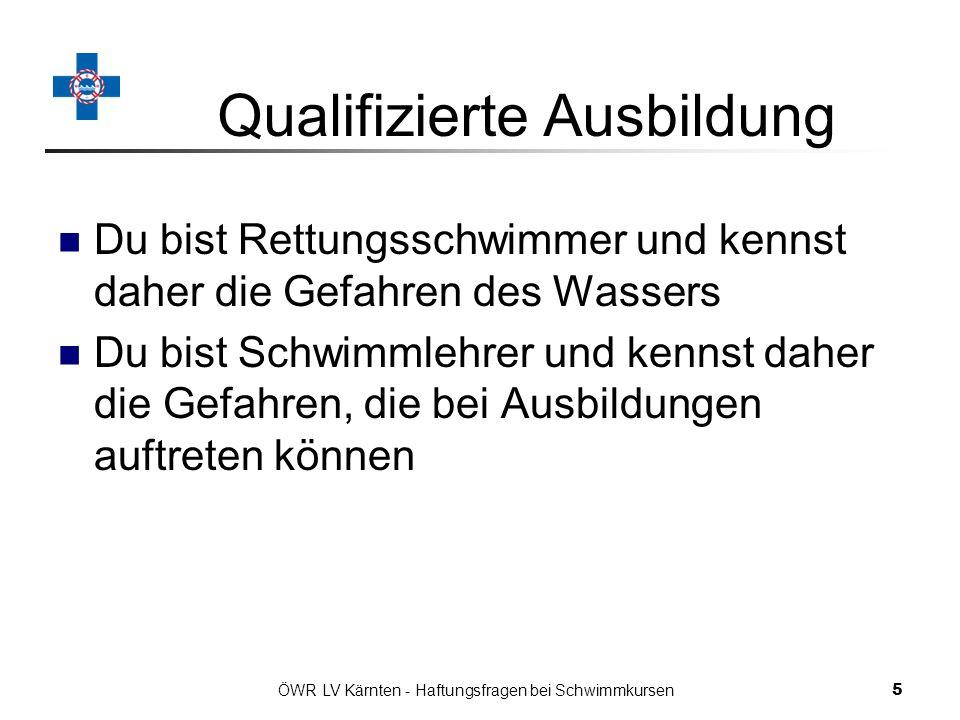 Qualifizierte Ausbildung