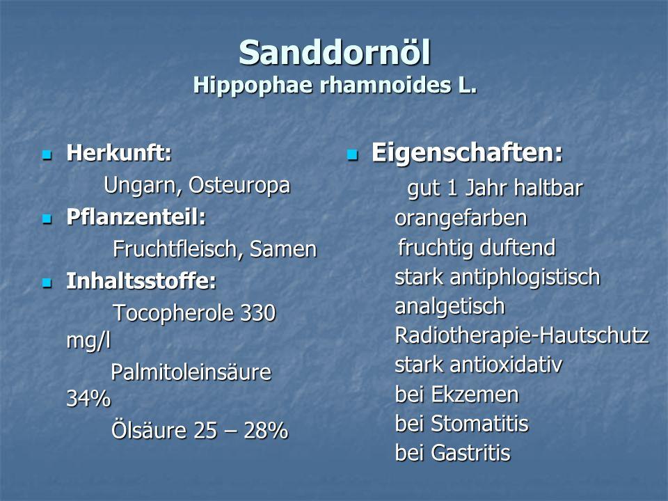 Sanddornöl Hippophae rhamnoides L.