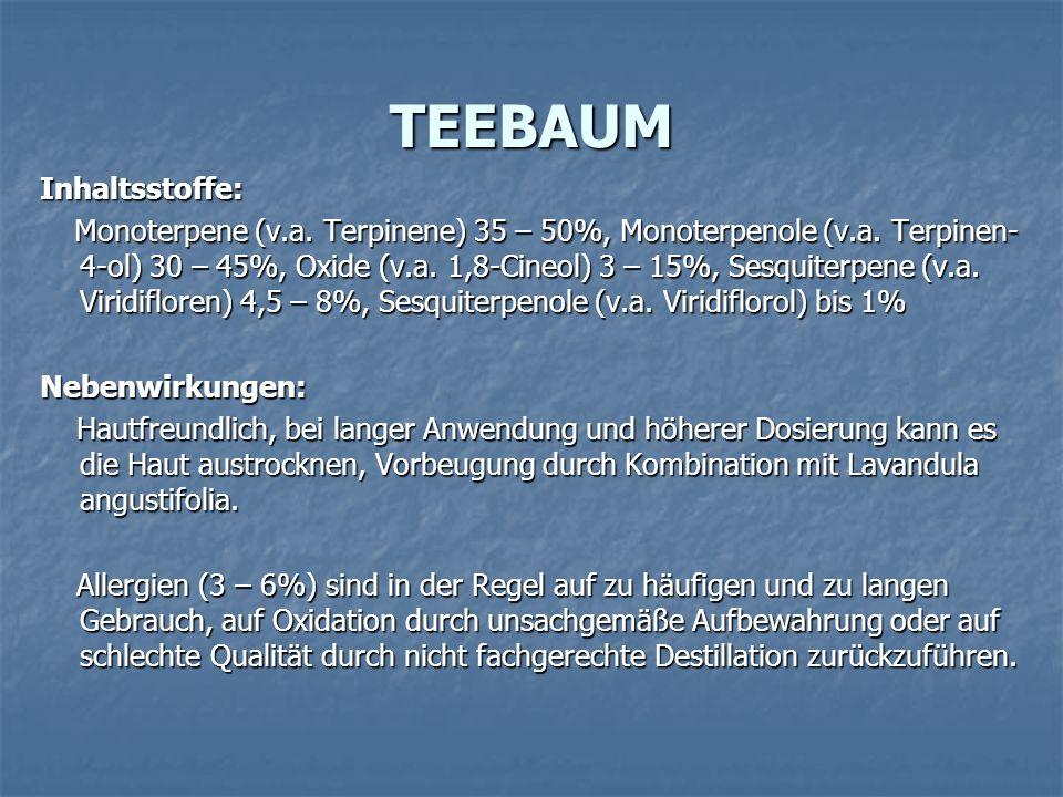 TEEBAUM Inhaltsstoffe: