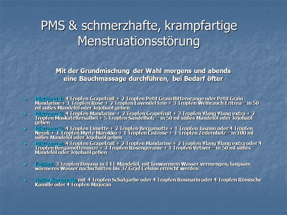 PMS & schmerzhafte, krampfartige Menstruationsstörung