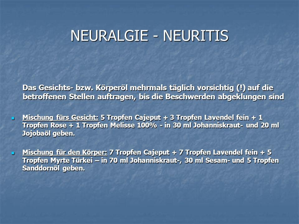 NEURALGIE - NEURITIS