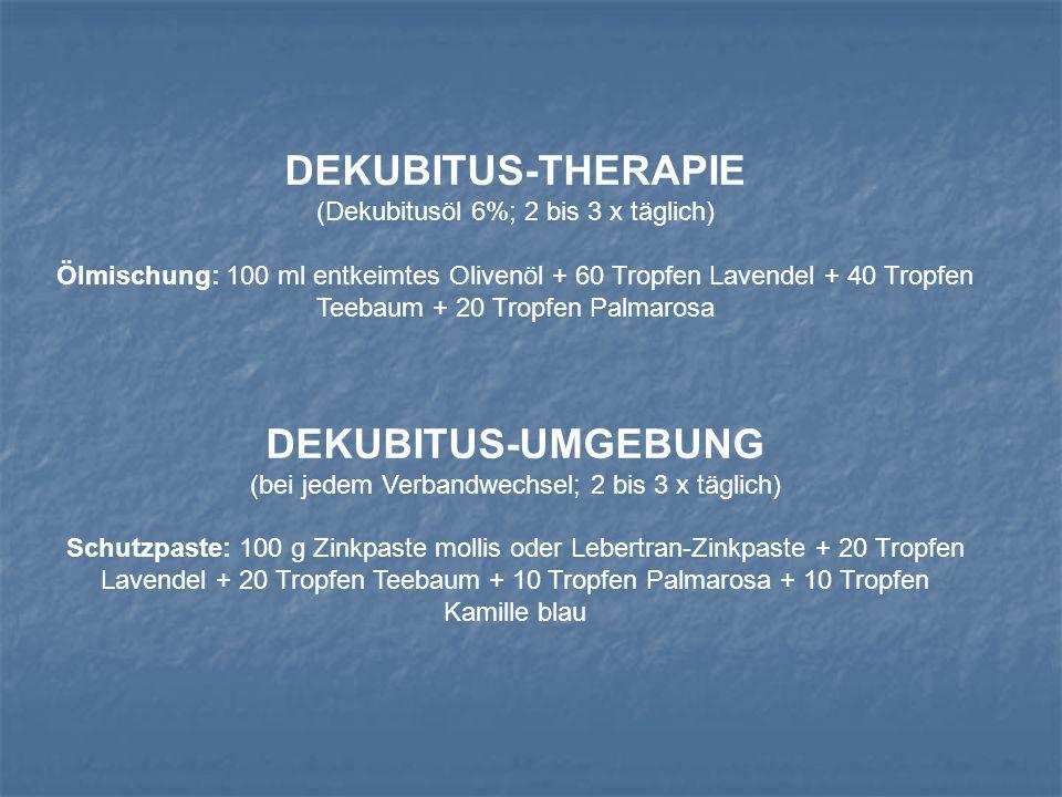 DEKUBITUS-THERAPIE DEKUBITUS-UMGEBUNG