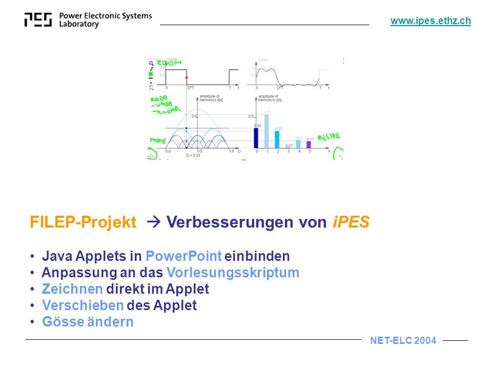 FILEP-Projekt  Verbesserungen von iPES