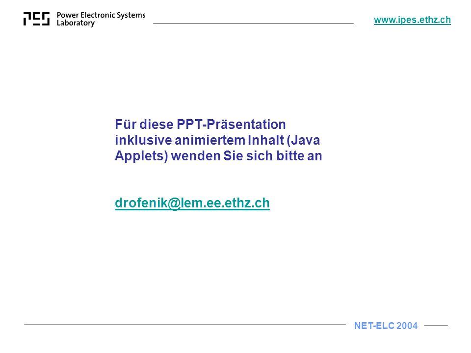 Für diese PPT-Präsentation inklusive animiertem Inhalt (Java Applets) wenden Sie sich bitte an