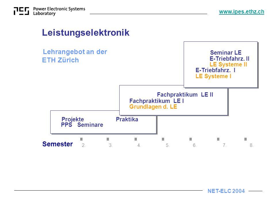 Leistungselektronik Fachpraktikum LE II Semester 2. 3. 4. 5. 6. 7. 8.