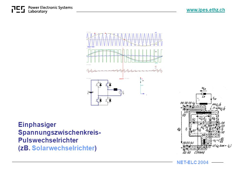Einphasiger Spannungszwischenkreis-Pulswechselrichter