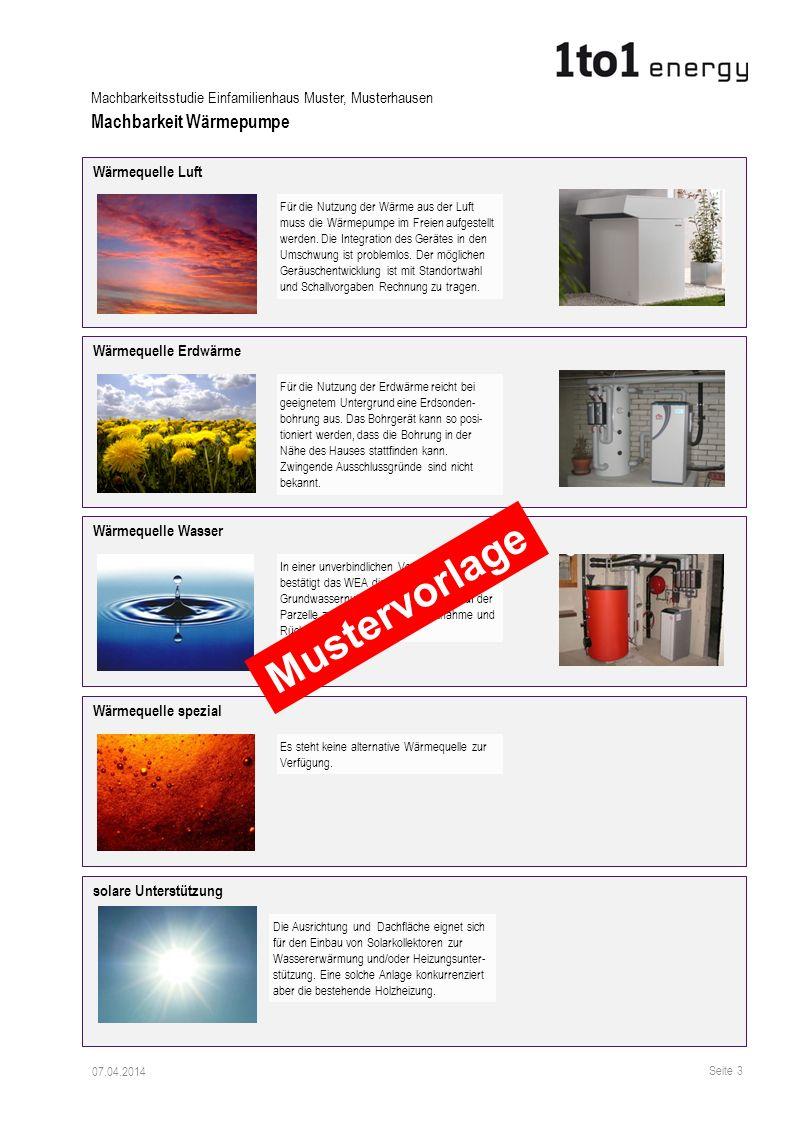 Mustervorlage Machbarkeit Wärmepumpe