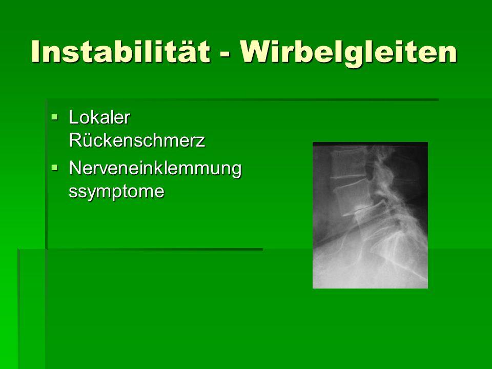 Instabilität - Wirbelgleiten