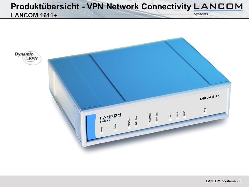 Produktübersicht - VPN Network Connectivity LANCOM 1611+