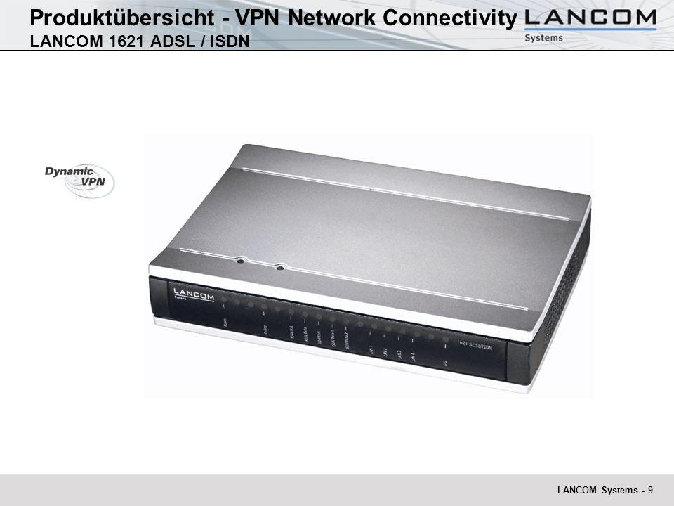 Produktübersicht - VPN Network Connectivity LANCOM 1621 ADSL / ISDN