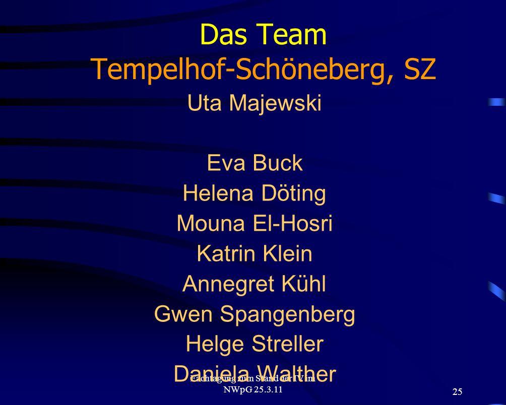 Das Team Tempelhof-Schöneberg, SZ