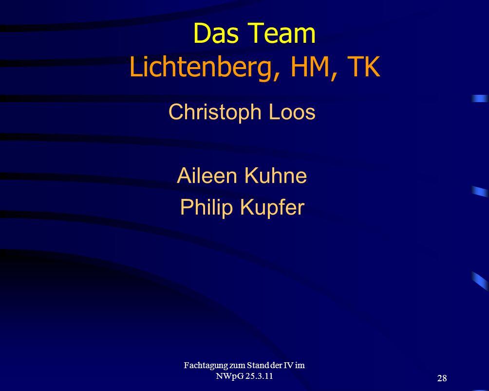 Das Team Lichtenberg, HM, TK