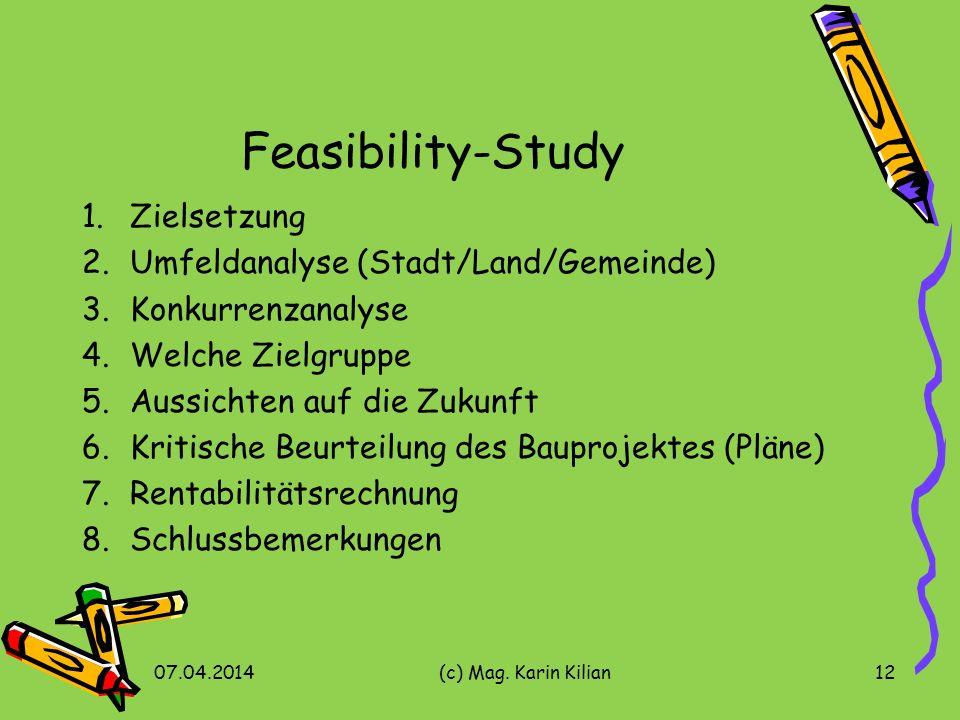 Feasibility-Study Zielsetzung Umfeldanalyse (Stadt/Land/Gemeinde)