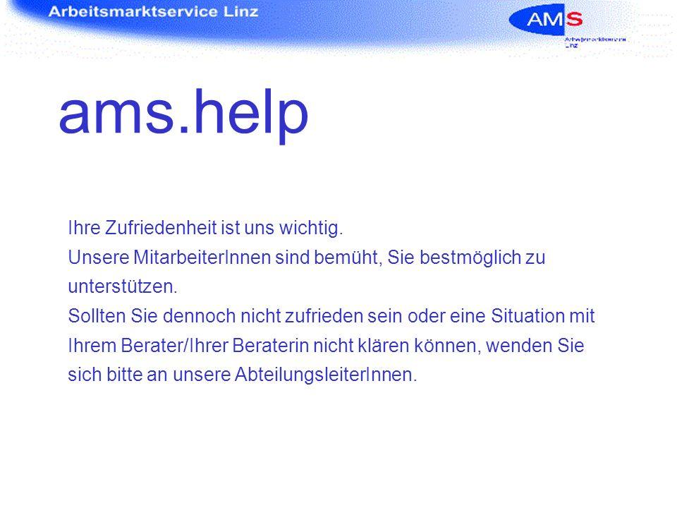 ams.help Alle Gespräche landen in der Serviceline