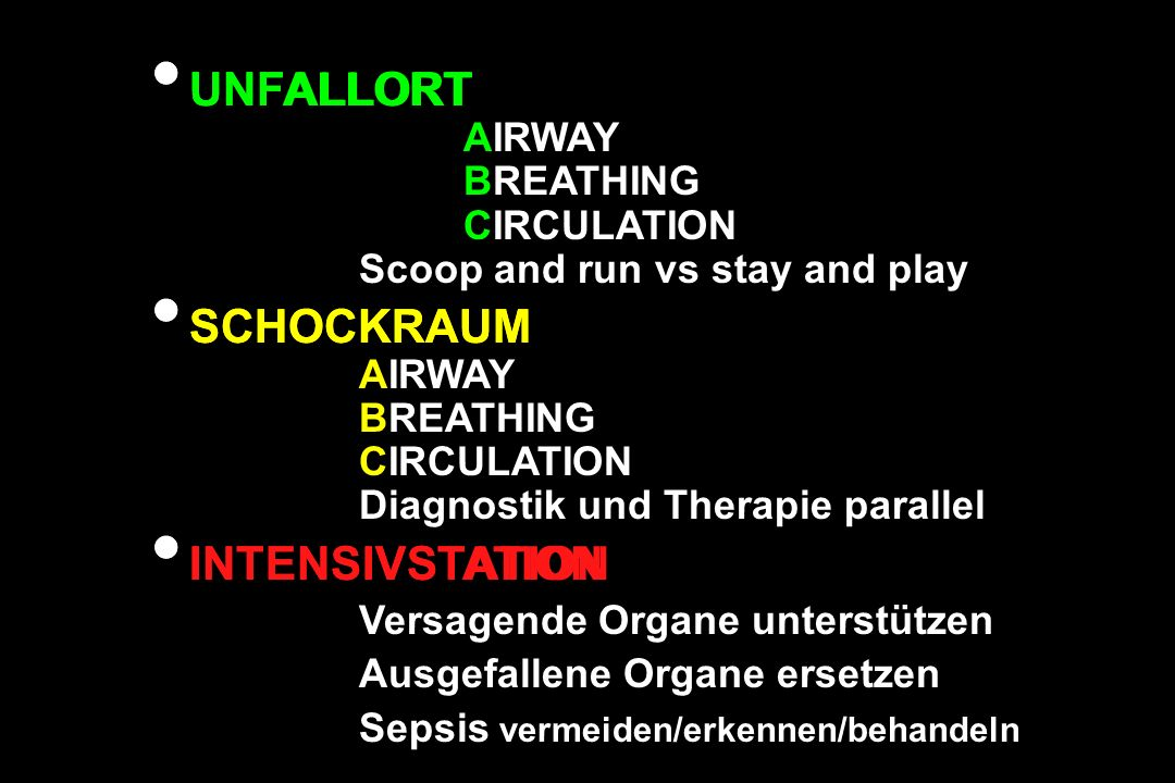 UNFALLORT AIRWAY BREATHING CIRCULATION Scoop and run vs stay and play