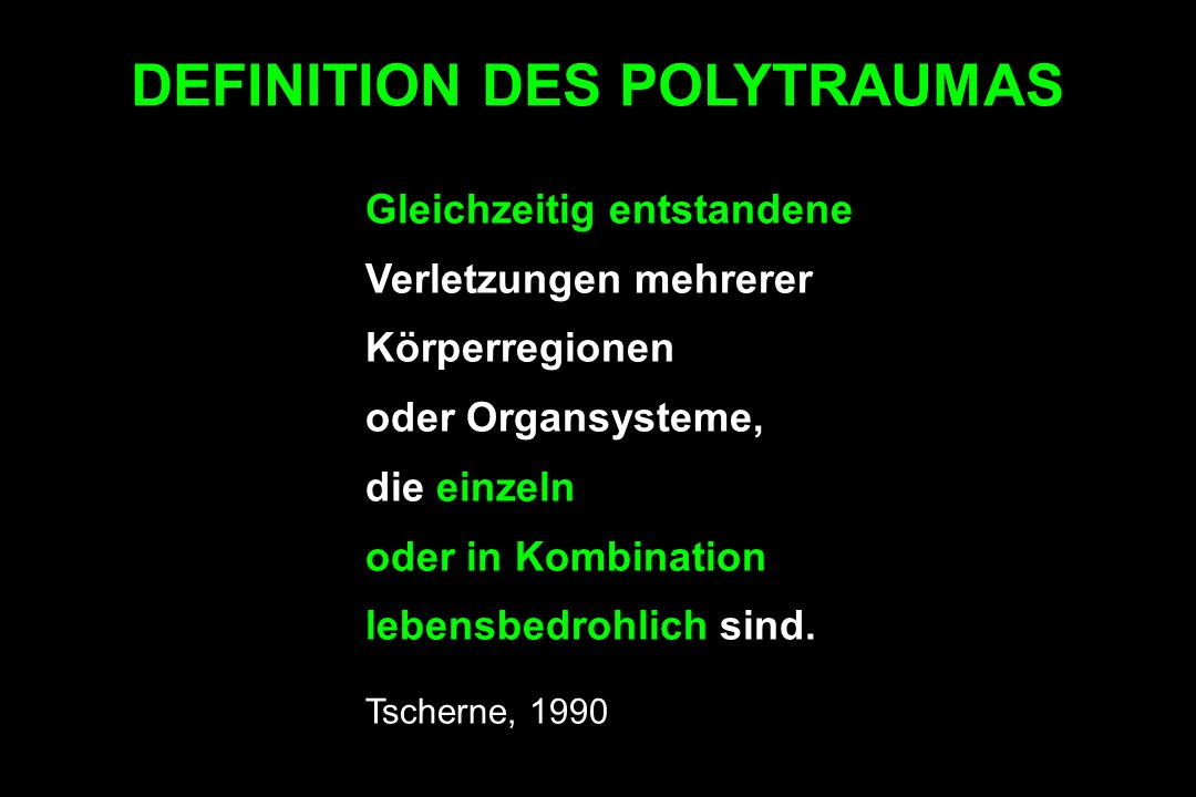 DEFINITION DES POLYTRAUMAS