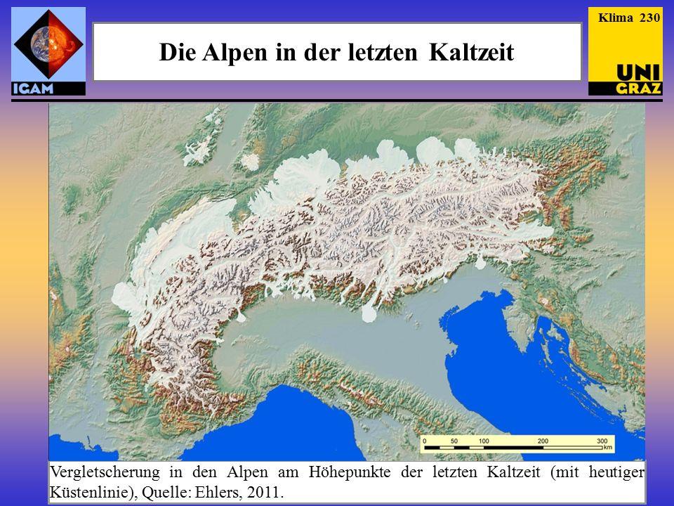 Die Alpen in der letzten Kaltzeit
