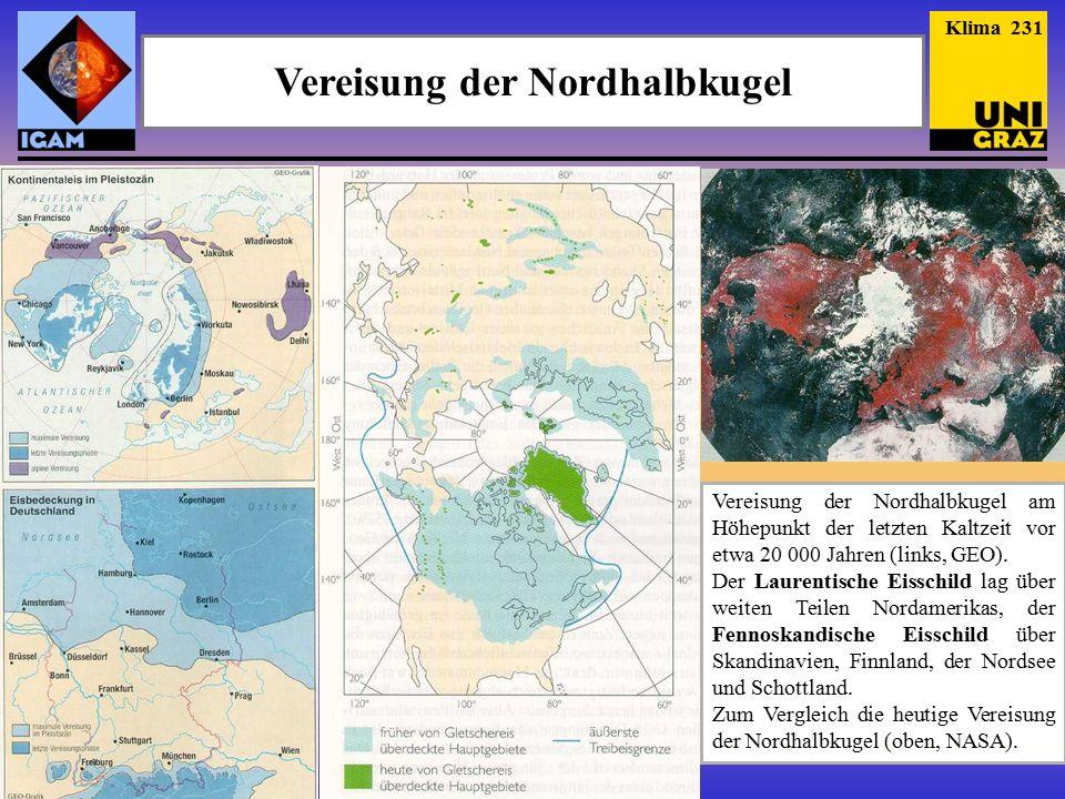 Vereisung der Nordhalbkugel