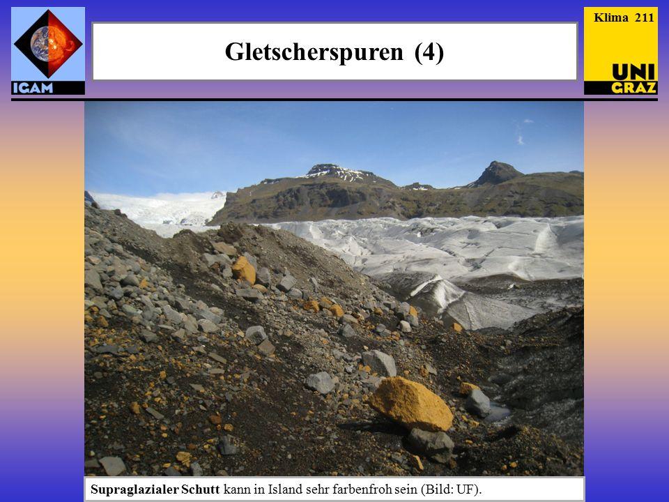 Klima 211 Gletscherspuren (4) Supraglazialer Schutt kann in Island sehr farbenfroh sein (Bild: UF).
