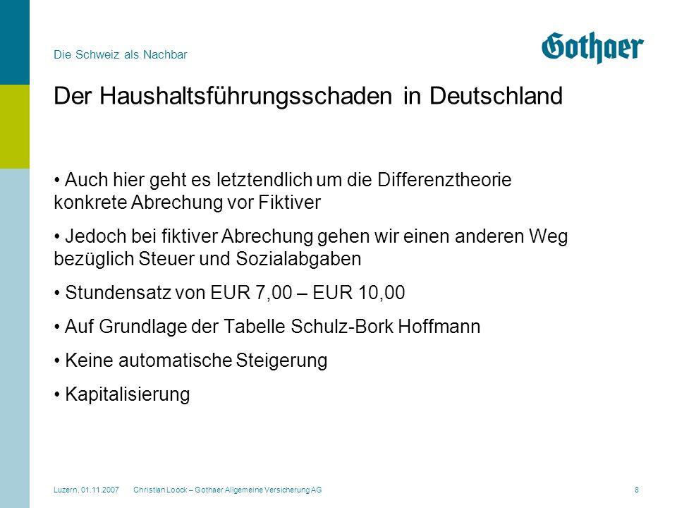 Der Haushaltsführungsschaden in Deutschland